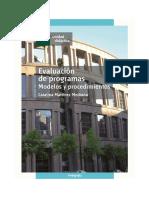 Libro Evaluación de Programas. Modelos y Procedimientos 2013