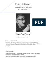 Ablinger, Peter-Jean-Paul Sartre (Pno & CD)