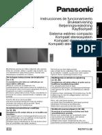 Manual Panasonic SC-HC57