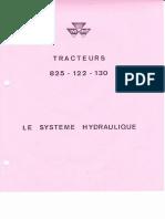 MF 825 122 130 Systeme Hydraulique Relevage
