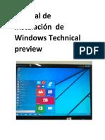 Manual de Instalacion de Windows Technical Preview