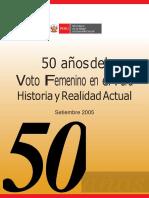 Voto Mujer Peruana 50 años