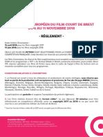 Reglement_Festival Européen Du Film Court de Brest