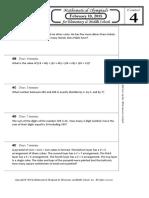 M.O.E.M.S Practice Packet 2015 Division E Contest 4 Problems