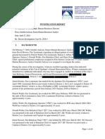 2018 Spokane Fire Department Harassment Report by City of Spokane Human Resources