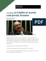 Eduardo Cunha Se Acerta Com Jovair Arantes