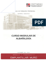Albañileria 1-2 Emplantillar Muro