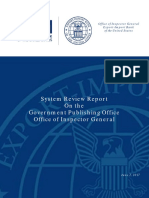 Gpo Oig System Review Report