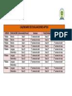 Calendario de Evaluaciones Aptus