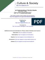 A Sociological Understanding of Suicide Attacks
