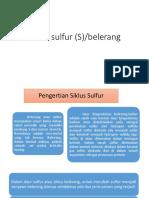 Siklus Sulfur (S)