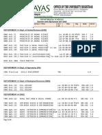 Class Schedule Summer 2018