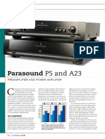 Parasound P5 Preamp A23 Power Amp Review Test Lores