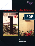 Kim Lighting Site Lightforms & Wallforms Brochure 1993