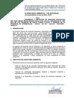 2. Primer Informe de Monitoreo Ambiental Abril 2018