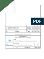 Especificaciones Técnicas Montaje