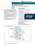 AS1747-50 Datasheet v1 02 Analog Switches