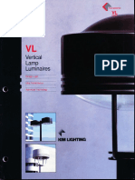 Kim Lighting VL Vertical Lamp Brochure 1993