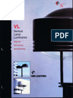 Kim Lighting VL Vertical Lamp Brochure 1995