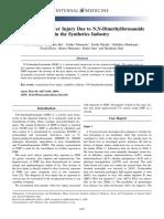 Occupational Liver Injury Due to N,N-Dimethylformamide