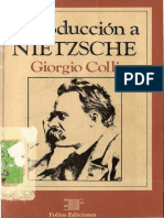 Colli Introduccion a Nietzsche