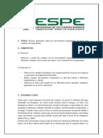 Respiración peces y el efecto de la temperatura-Informe ESPE