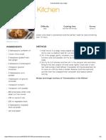 Coconut Lamb Curry Recipe