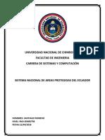 Sistema Nacional de Areas Protegidas Del Ecuador