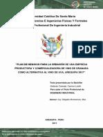 Plan de Negocio Para La Creacion de Una Empresa Productora y Comercializadora de Vino de Granada