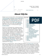 About SQLite