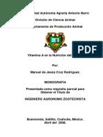 Vitamina _A_ en La Nutricion Del Cerdo