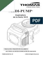 Manual de Usuario y Fabrica Aspirador Thomas 1615 Esp