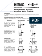 Fan Arrangements Rotation Discharge and Motor Position Fe 3900