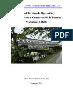 4.0 Manual Tecnico de Operacion y Mantenimiento o Conservacion de Puentes Modulares