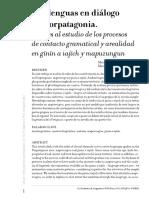 Dos lenguas en diálogo en Norpatagonia.