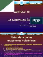 CAPÍTULO 10 Actividad Ígnea
