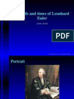 The Life and Times of Leonhard Euler