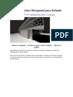 Crear Estructura Hexagonal Para Fachada