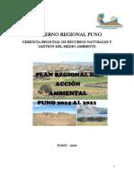 Gobierno Regional Puno Gerencia Regional de Recursos Naturales y Gestión Del Medio Ambiente 2014- 2021