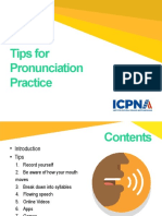 Tips for Pronunciation Practice - Copia