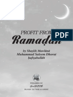 Profit from Ramadān - Shaykh Saleem Dhorat