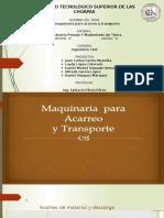 2.4 Maquinaria Para Acarreo y Transporte