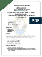 Plan de Trabajo Juramentacion de Brigada Escolar 2018