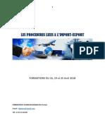 Procedure Import-export Br