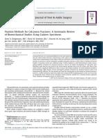 Métodos de Fijación Para Fracturas de Calcáneo - Revisión Sistemática de Estudios Biomecánicos Con Muestras de Cadáveres