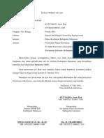 Surat Pernyataan Imb kab. sukamara