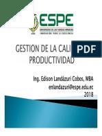 Calidad y Productividad 2018-01