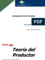 4 Teoría Del Productor Oferta Elast y Producción Costos