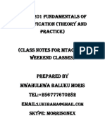 Drim 1201 Classification (Theory and Practice)