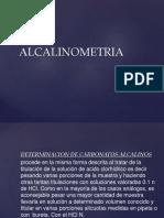 ALCALINOMETRIA